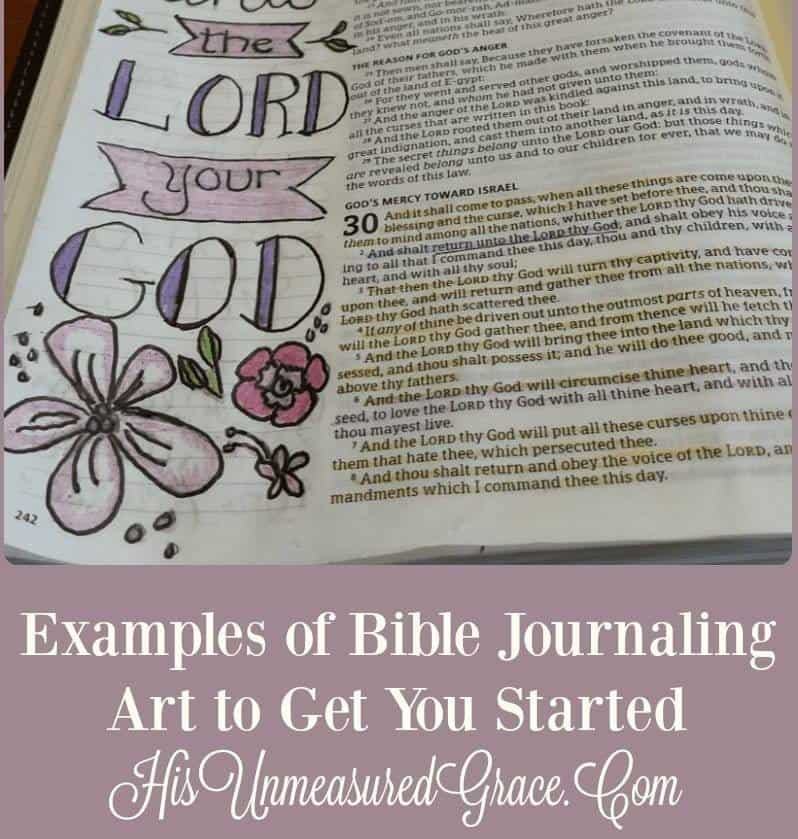 Examples of Bible Journaling Art