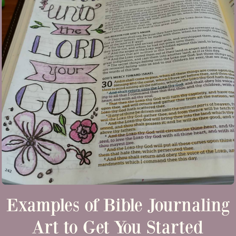 Examples of Bible Journaling Art to Get You Started