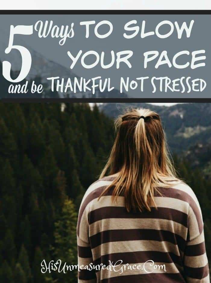 5 Reasons to Be Thankful NOT Stressed