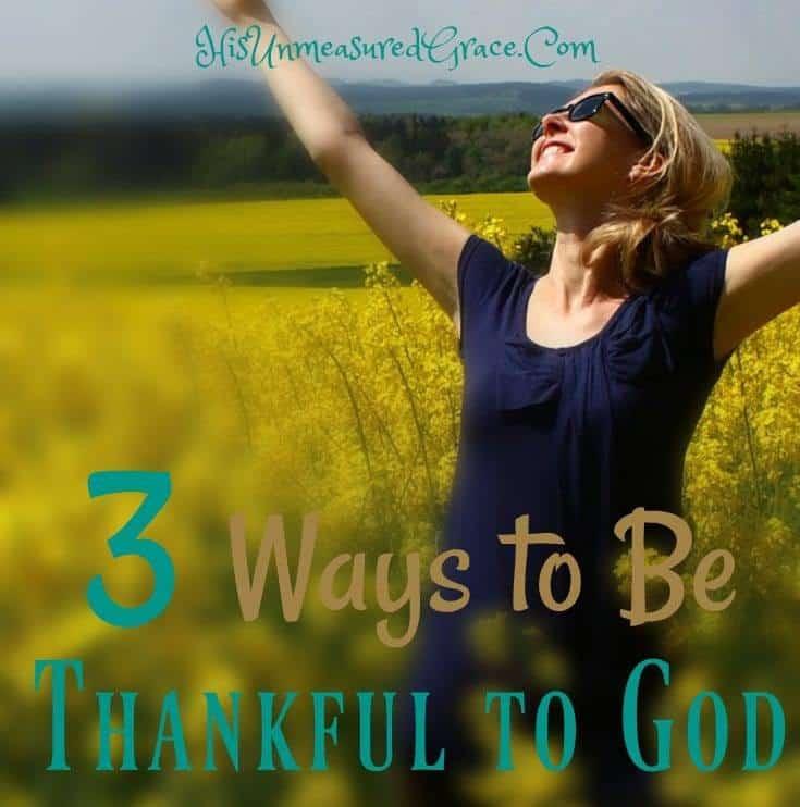 Thankful to God