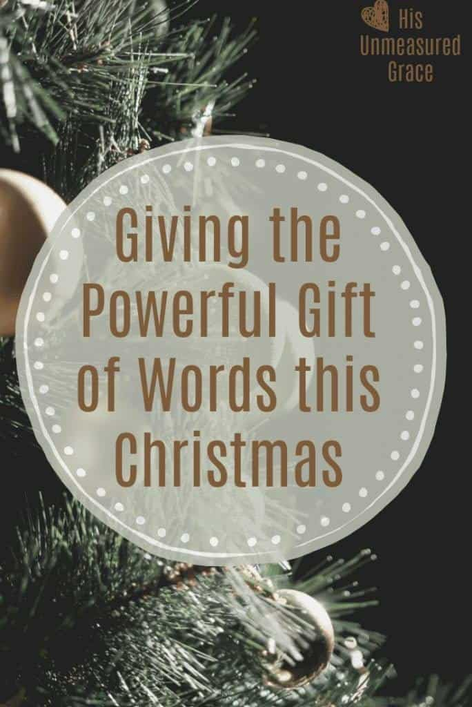Giving the Powerful Gift of Words this Christmas