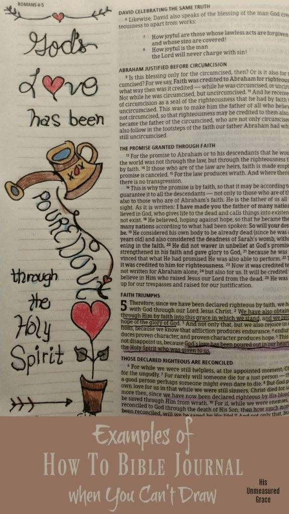 Examples of How To Bible Journal when You Can't Draw - His ...