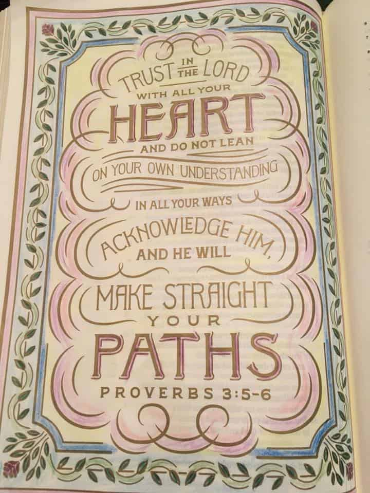 An Adult Coloring Book With Bible Verses And Hymns
