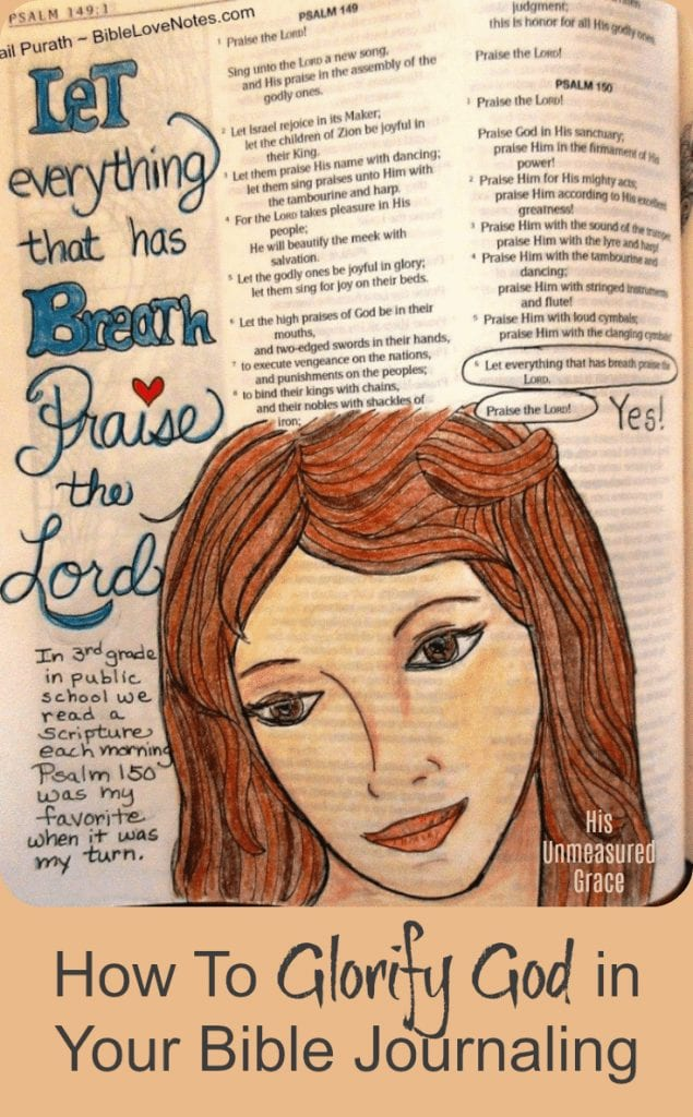 How To Glorify God in Your Bible Journaling
