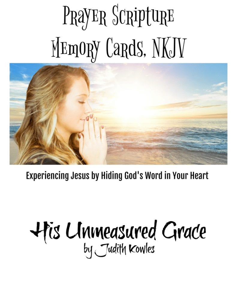 Prayer Scripture Memory Cards