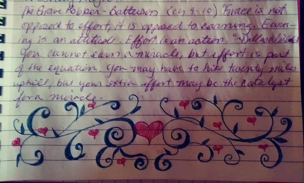 Simplicity in Bible Journaling when Time is Limited