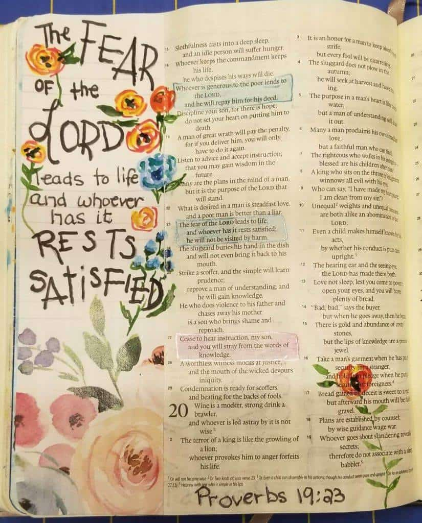 3 Creative Bible Journaling Tips When You Have No Artistic Ability