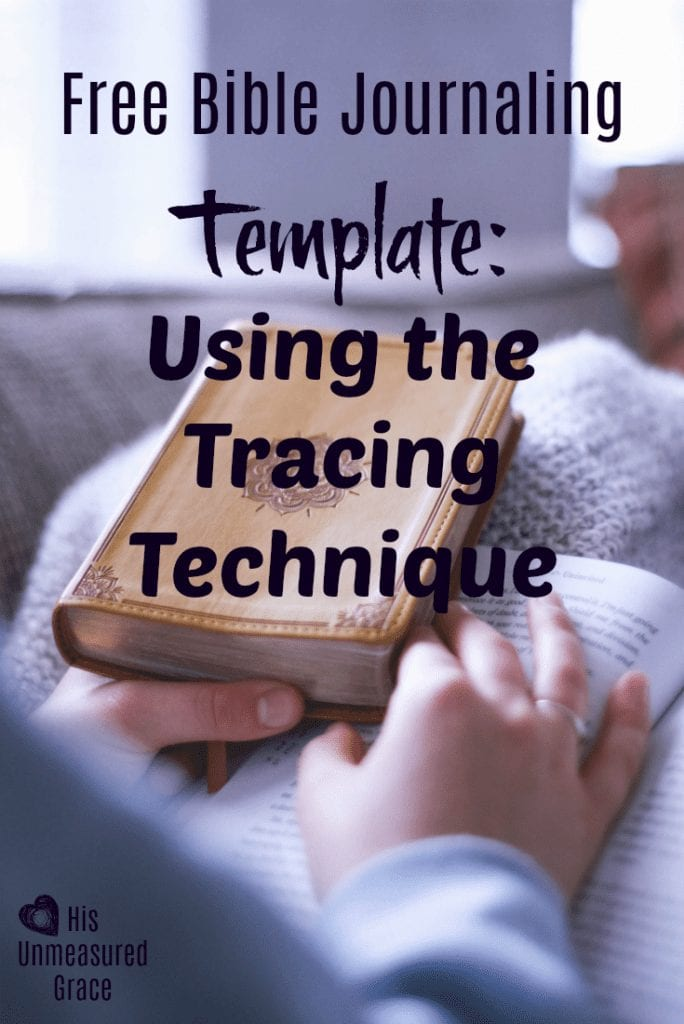 Free Bible Journaling Template - Using the Tracing Technique