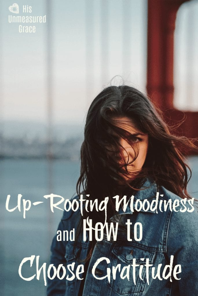 Up-Rooting Moodiness and How To Choose Gratitude