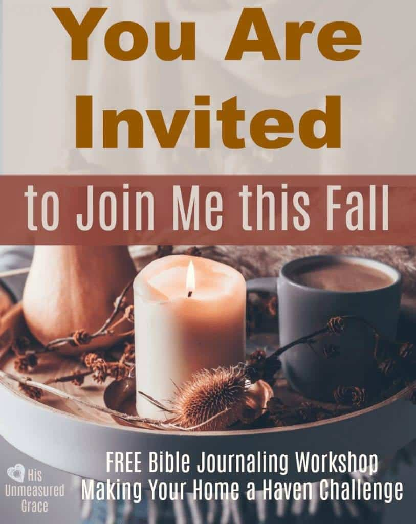 You Are Invited to Join Me this Fall