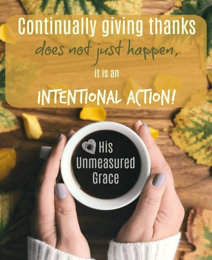 How To Continually Give Thanks To God