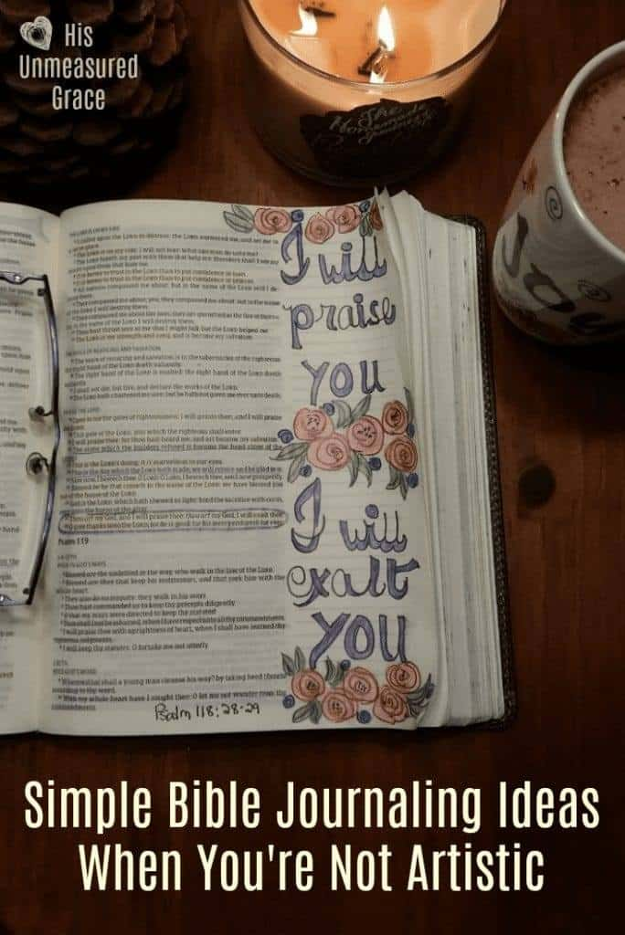 Simple Bible Journaling Ideas when Your Not Artistic