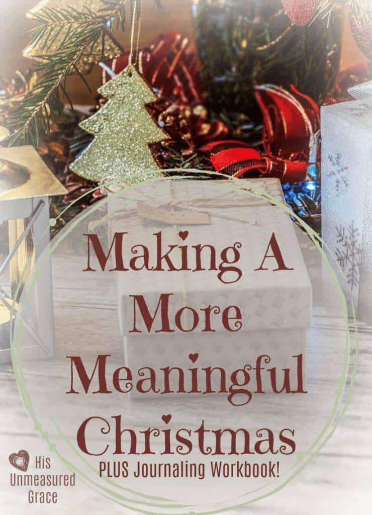 photo relating to Home and Family Christmas Workbook identify Producing A Far more Significant Xmas + Journaling Workbook