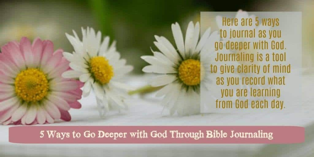 Go Deeper with God through Bible Journaling