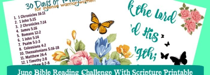 June Bible Reading Challenge with Scripture Printable