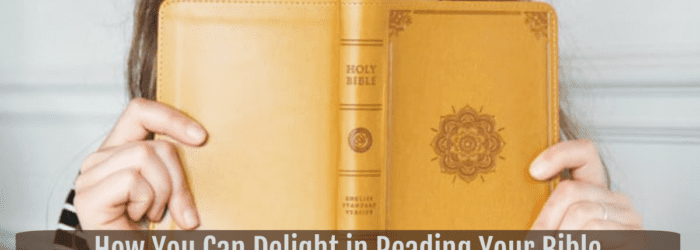 How You Can Delight in Reading Your Bible