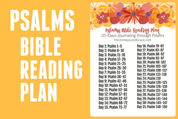 Psalms Bible Reading Plan