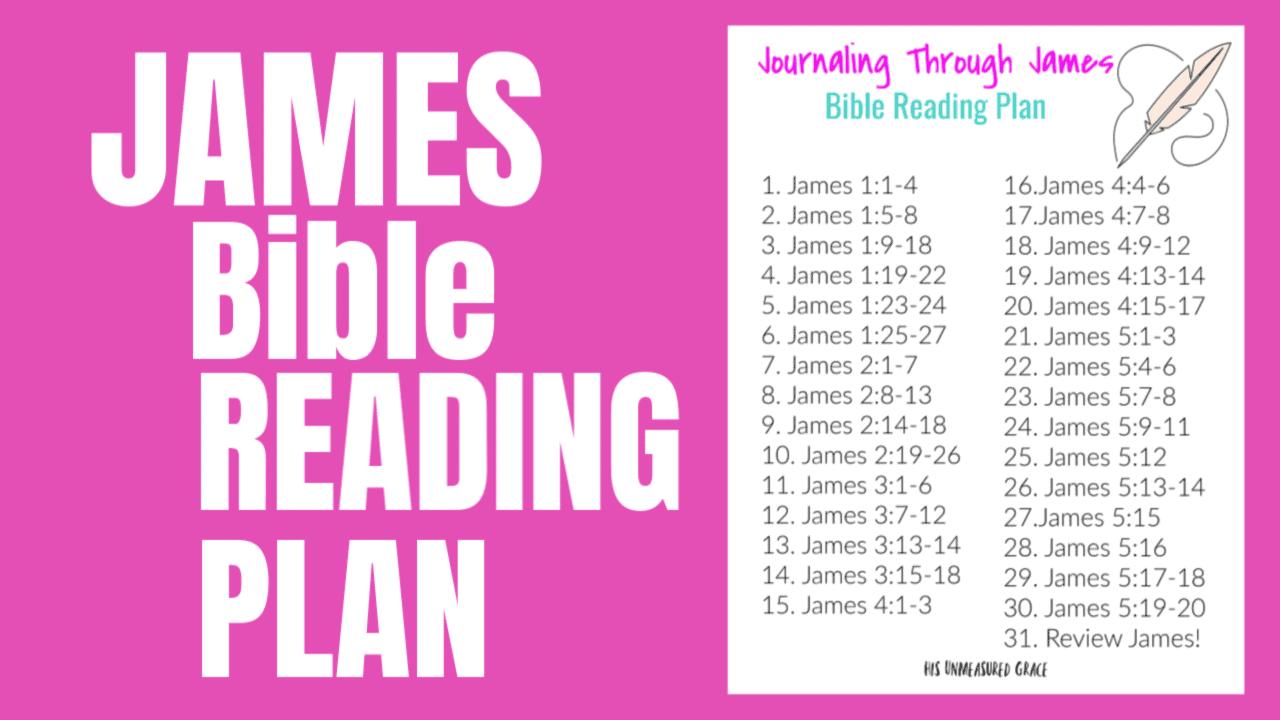 James Bible Reading Plan