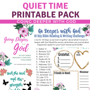Quiet Time Printable Pack