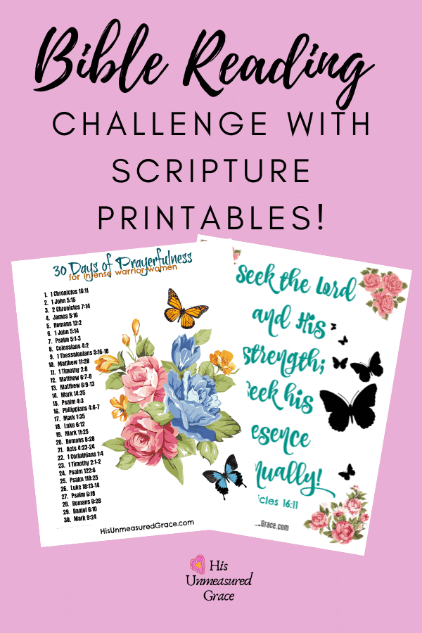 Bible Reading Challenge with Scripture Printables