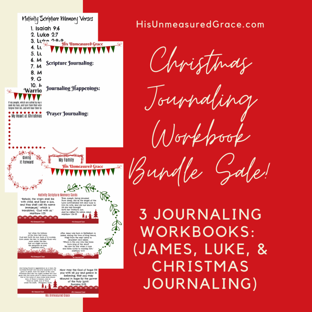 Christmas Journaling Workbook Bundle Sale