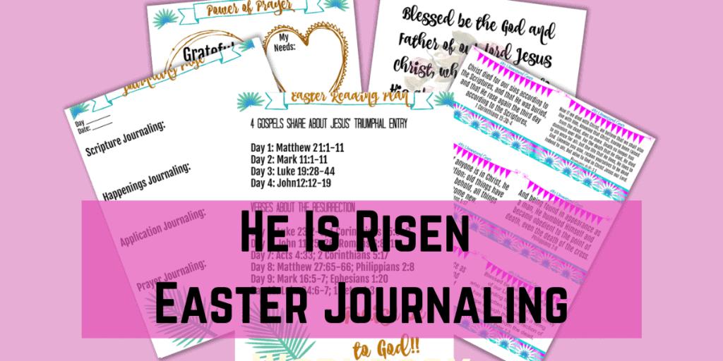 He Is Risen Easter Journaling Workbook