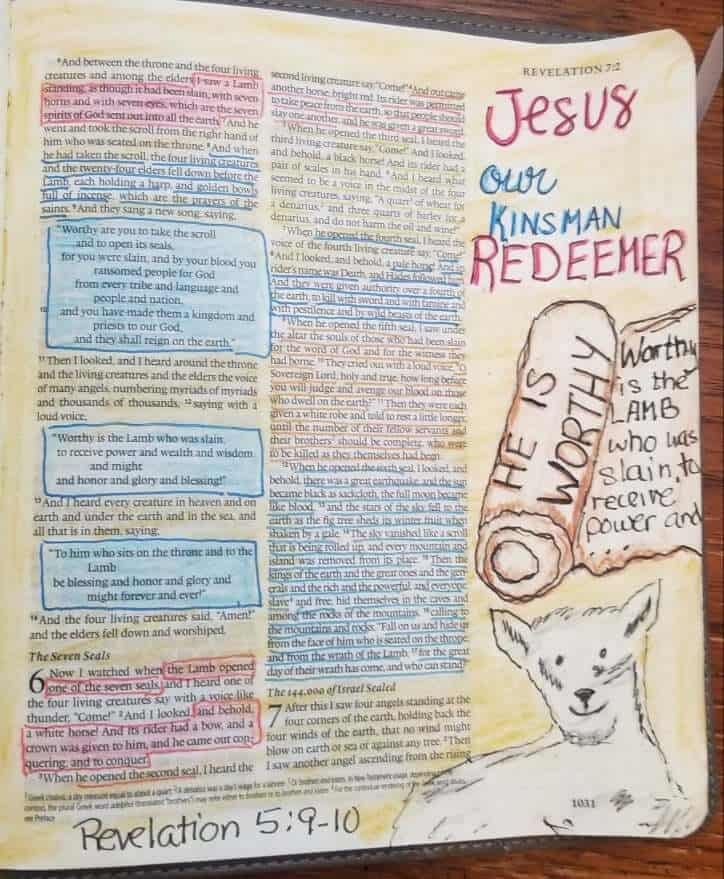 Bible Journaling through Revelation will give you coloring inspiration as this book about the end times comes alive before your eyes!