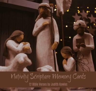 Nativity Scripture Memory Cards