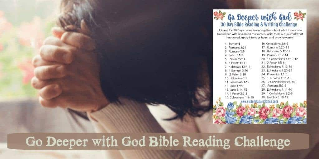Go Deeper with God Bible Reading Challenge