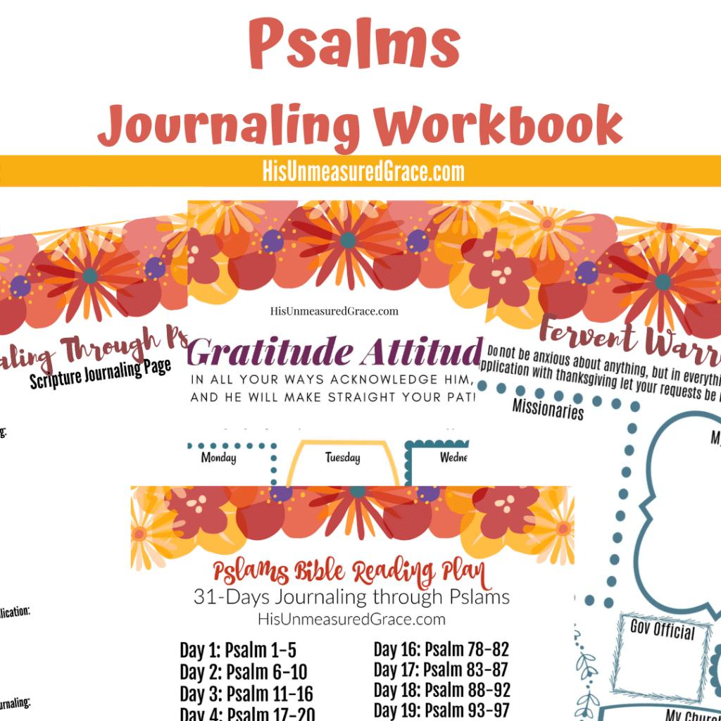 Psalms Journaling Workbook